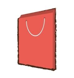 Pink bag gift papper handle sketch vector