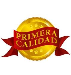 premium quality seal spanish version vector image