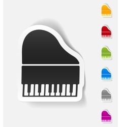 realistic design element piano vector image