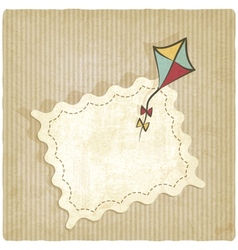 Retro background with kite vector