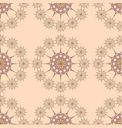 seamless pattern on a vanila background vector image vector image
