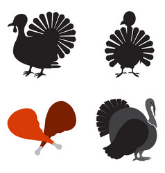 Set of turkey icons vector