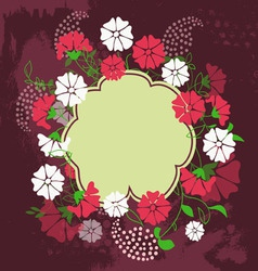 Spring floral design element vector image