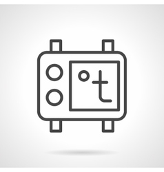 Thermostat black simple line icon vector