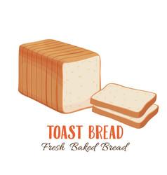 Toast bread icon vector