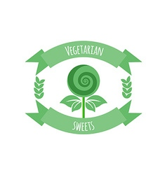 Vegetarian sweets icon or logo vector image vector image