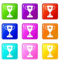 Winner cup set 9 vector