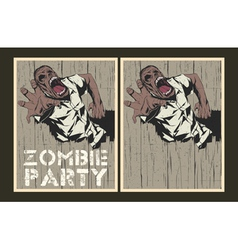 Zombie party invitation template vector image