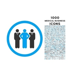Team rounded icon with 1000 bonus icons vector