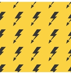 Black yellow lightnings seamless background vector