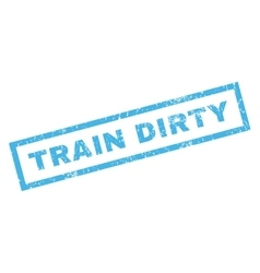 Train dirty rubber stamp vector