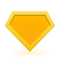 Yellow superhero logo template vector
