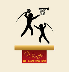 Basketballl design sport icon white background vector