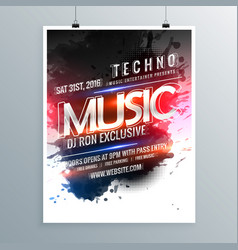 Music party promotional flyer poster template vector