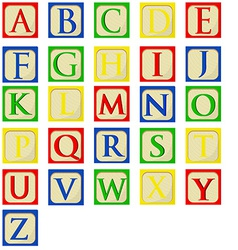 Alphabet baby blocks vector