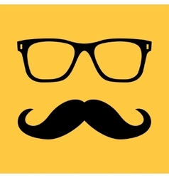 Mustache and glasses vector