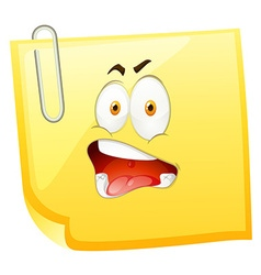 Yellow paper with shocking face vector