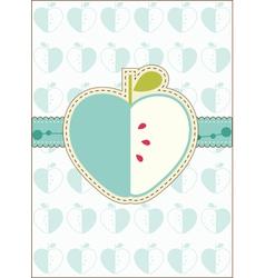 Apple greeting card vector