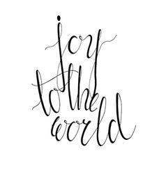 Joy to the world vector