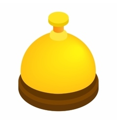 Reception bell isometric 3d icon vector