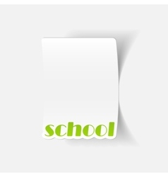Realistic design element school vector