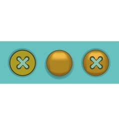 Button rivet vector