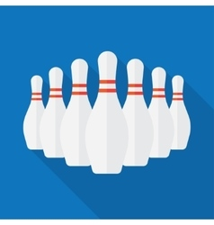 Group of white bowling pins vector