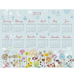 Decorative calendar for 2013 vector