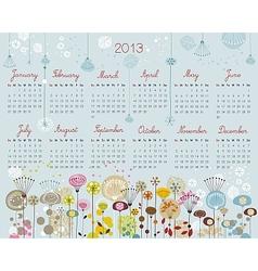 Decorative Calendar for 2013 vector image