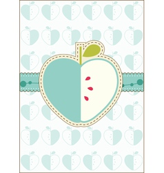 Apple greeting card vector
