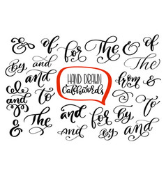 big collection of hand lettered ampersands and vector image vector image