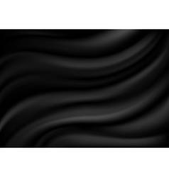 Black satin background vector