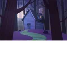 Cabin in Woods - Night vector image