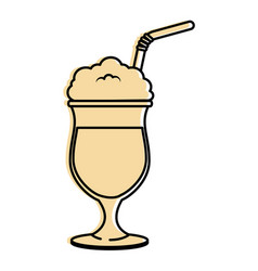 Cold coffee drink vector