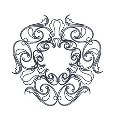 Crest vintage decoration swirls emblem vector