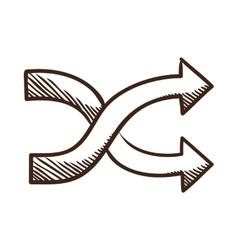 Crossed arrows vector image vector image