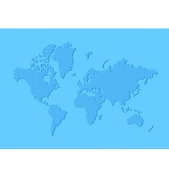Dotted world map made of rounded rectangles vector image vector image