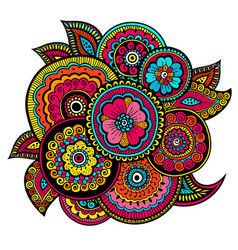 ethnic mehndi ornament indian style doudles vector image