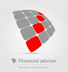 Financial adviser business icon vector image vector image