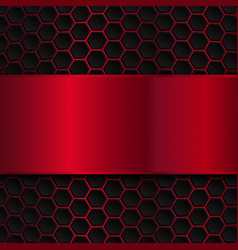 Geometric pattern of hexagons Abstract background vector image vector image