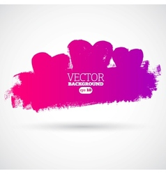 Graphic grunge hearts ink splatter vector image vector image