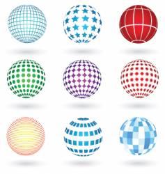 Graphic spheres vector