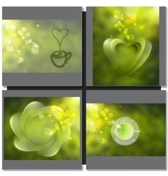 green tea sign symbol vector image vector image
