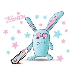 halloween zombie rabbit vector image