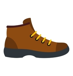 Hiking boot icon flat style vector image