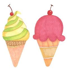 Ice cream hand-drawn vector image