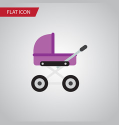 Isolated pram flat icon stroller element vector