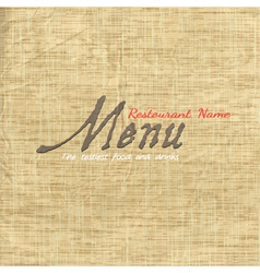 Menu card design on texture old paper vector image vector image