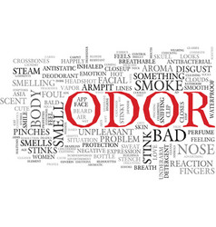 odor word cloud concept vector image