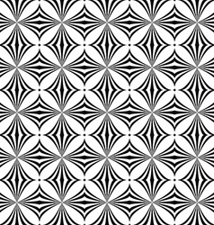 Repeating monochrome curved shape pattern vector